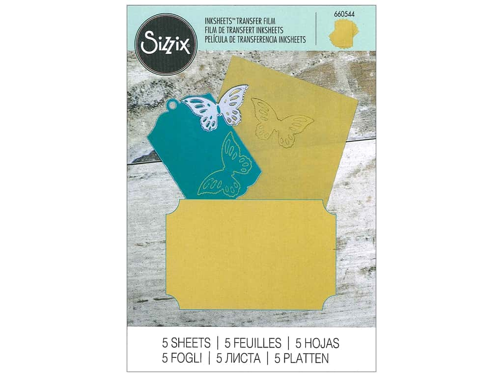 Sizzix Inksheets Transfer Film 4 x 6 in. 5 pc. Gold
