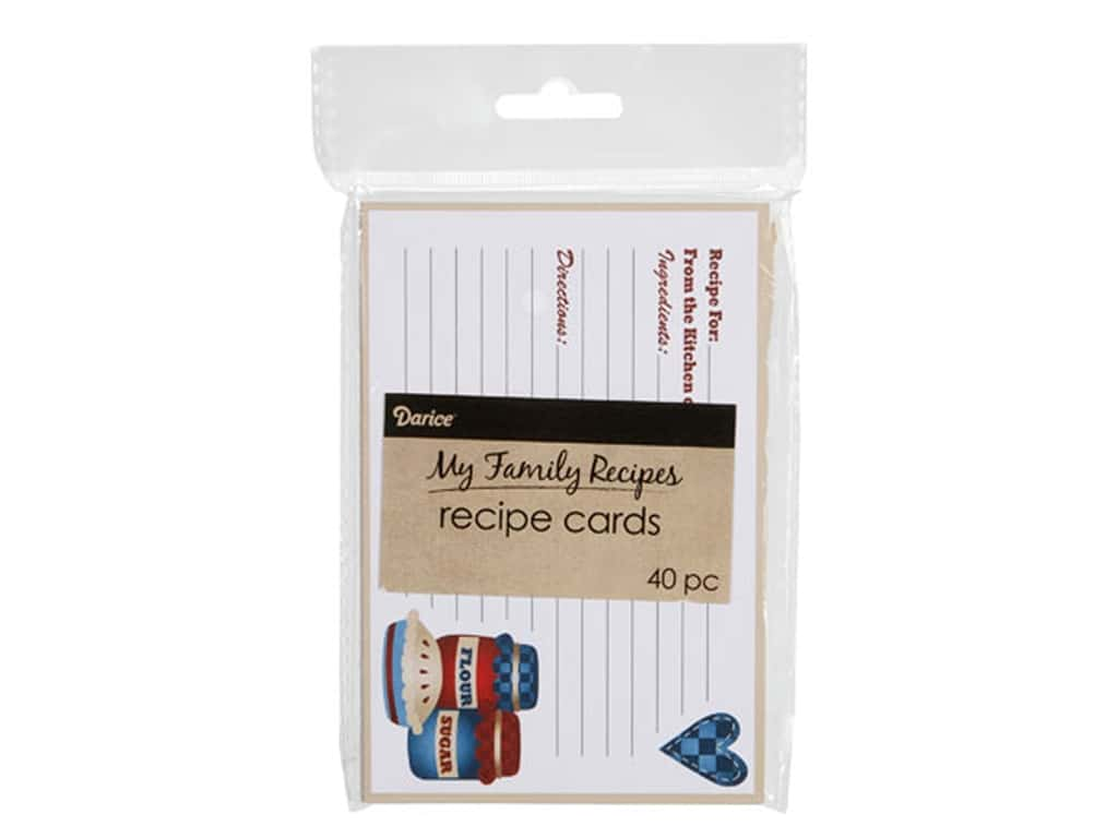 Darice My Family Recipes Recipe Cards 40 pc. Country Cookin'