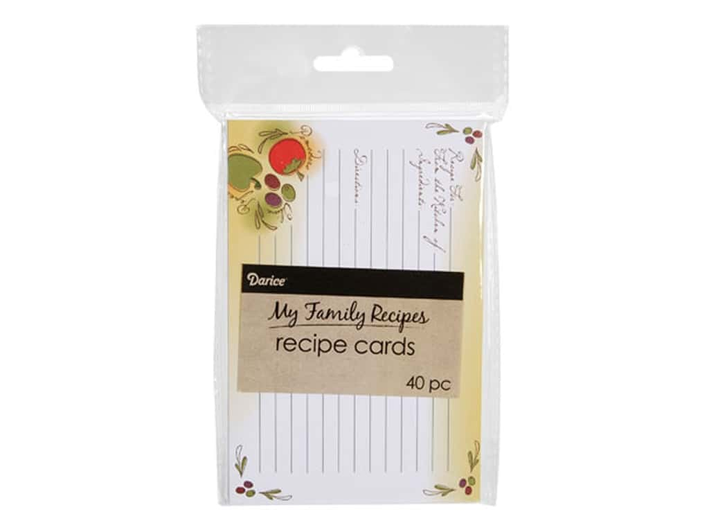Darice My Family Recipes Recipe Cards 40 pc. Tuscan Garden