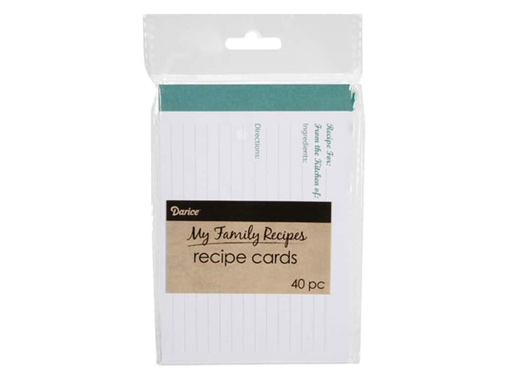 Darice My Family Recipes Recipe Cards 40 pc. Modern Kitchen