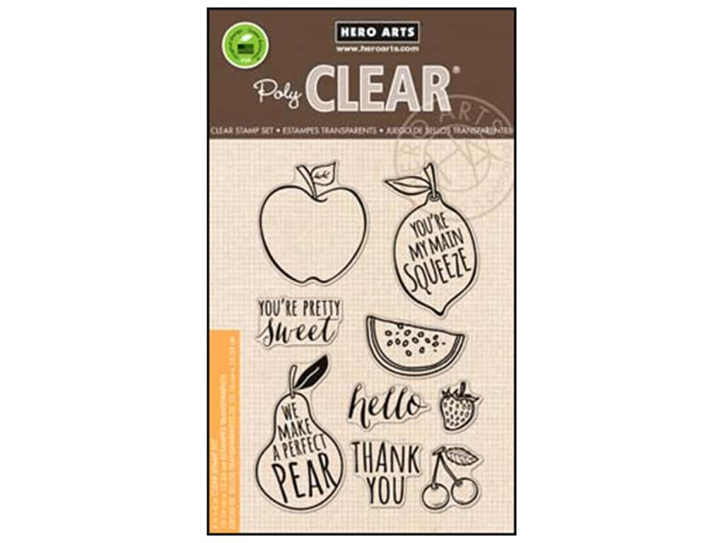 Hero Arts Poly Clear Stamps Your Own Fruit