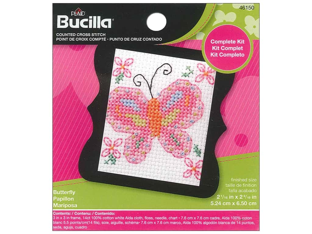 Bucilla Counted Cross Stitch Kit 2 1/2 in. Mini Butterfly