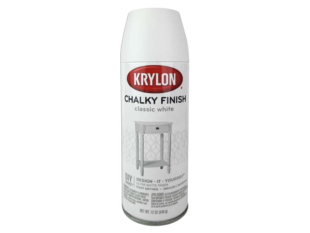 Krylon Chalky Finish Paint 12 oz. Classic White