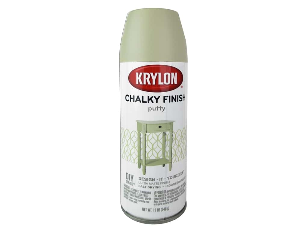 Krylon Chalky Finish Paint 12 oz. Putty