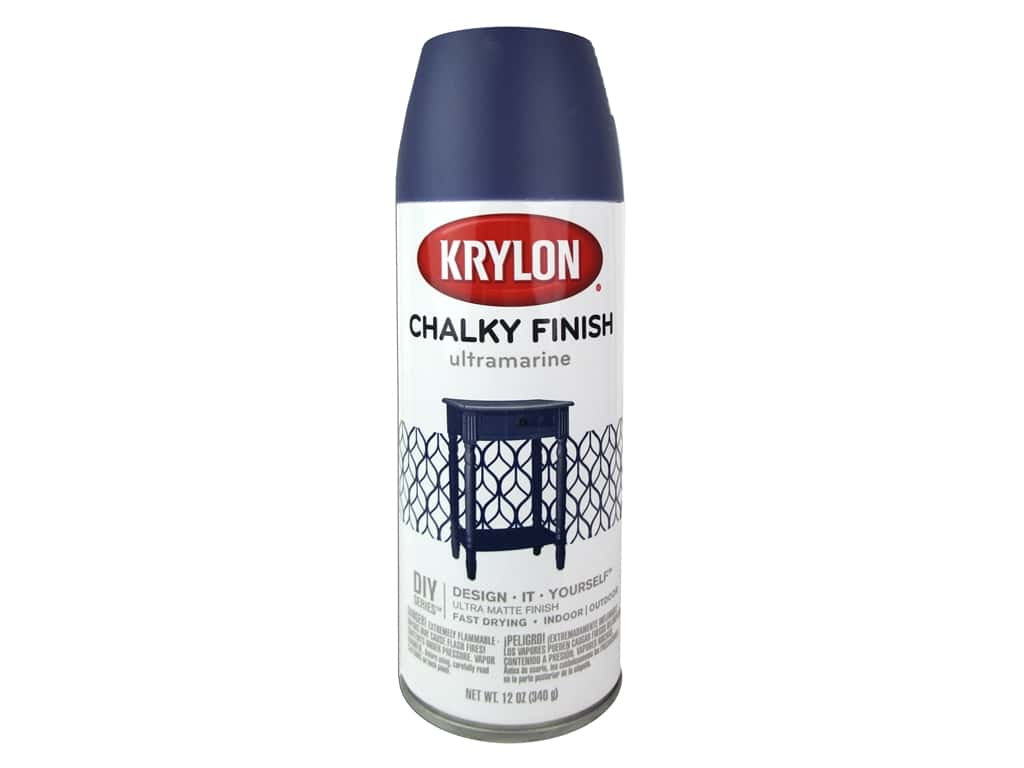 Krylon Chalky Finish Paint 12 oz. Ultramarine