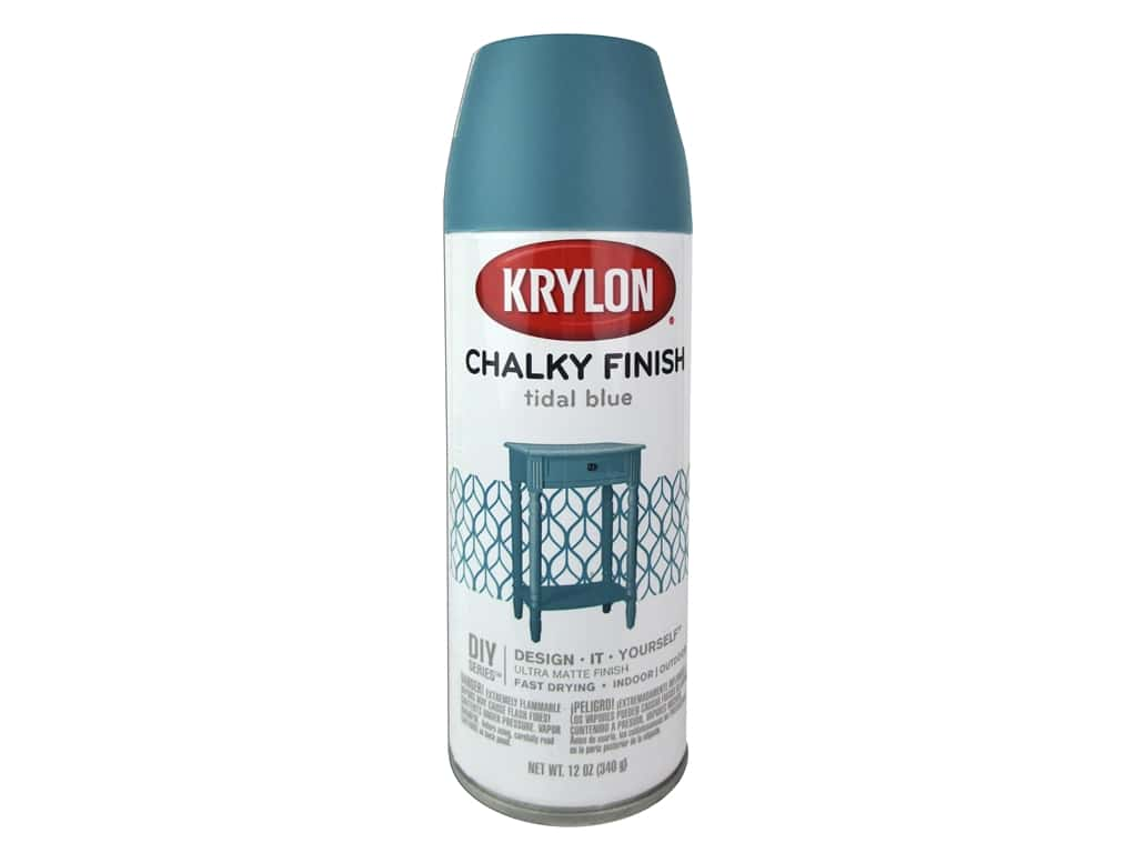 Krylon Chalky Finish Paint 12 oz. Tidal Blue