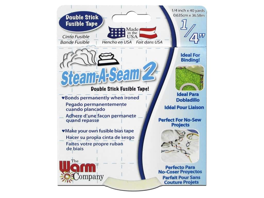 The Warm Company Steam-A-Seam 2 Fusible Web 1/4 in. Tape