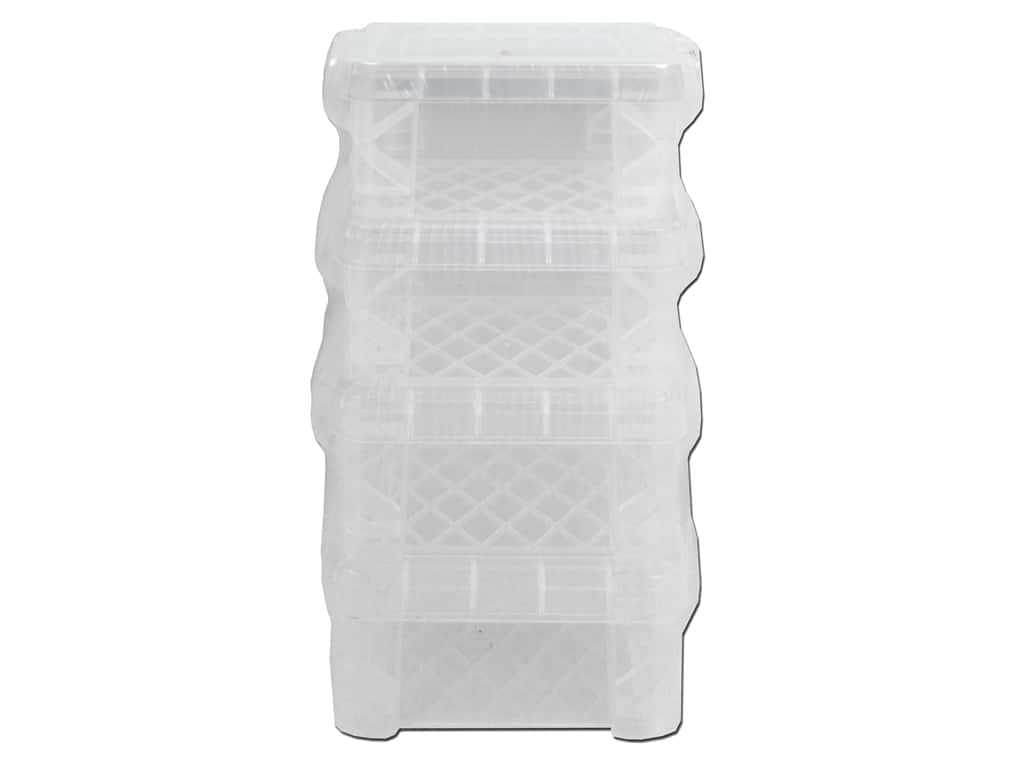 Storage Studios Super Stacker Pixie Box 4 pc. Clear