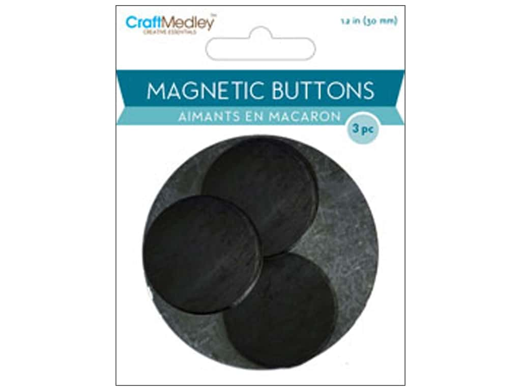 Craft Medley Round Magnets 1 1/8 in. 3 pc.