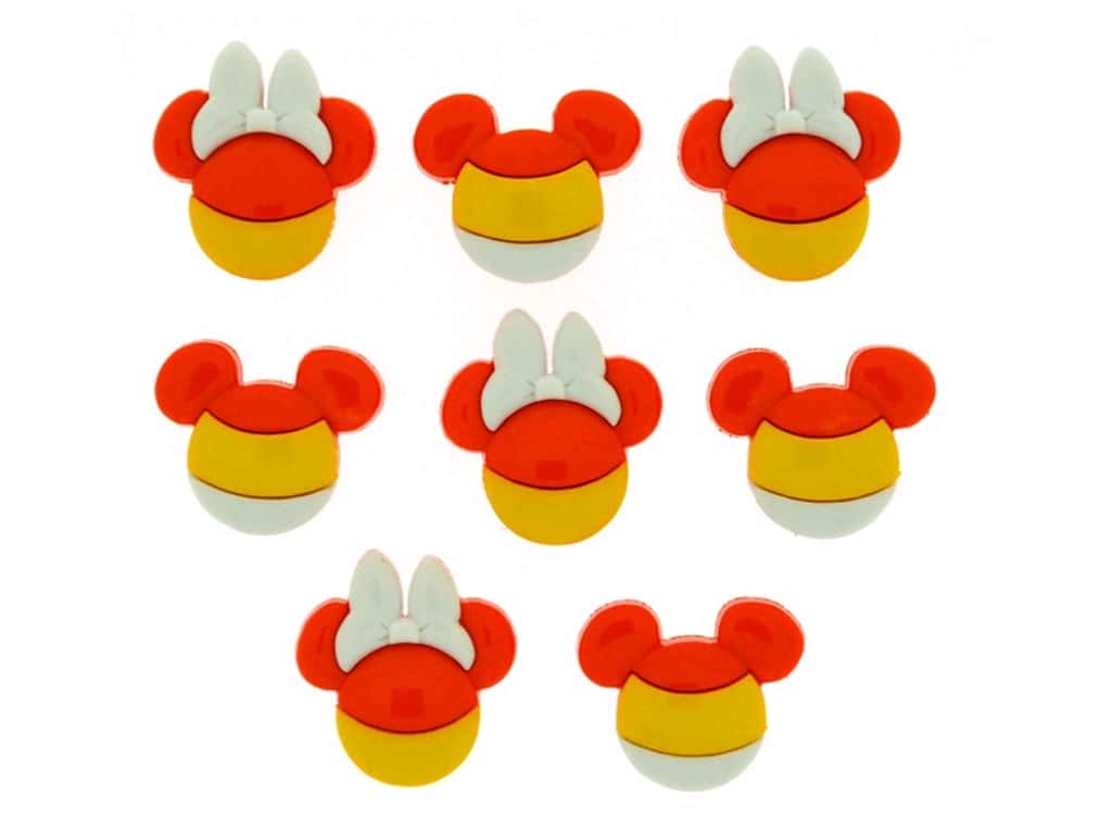 Jesse James Dress It Up Embellishments Disney Mickey & Minnie Candy Corn