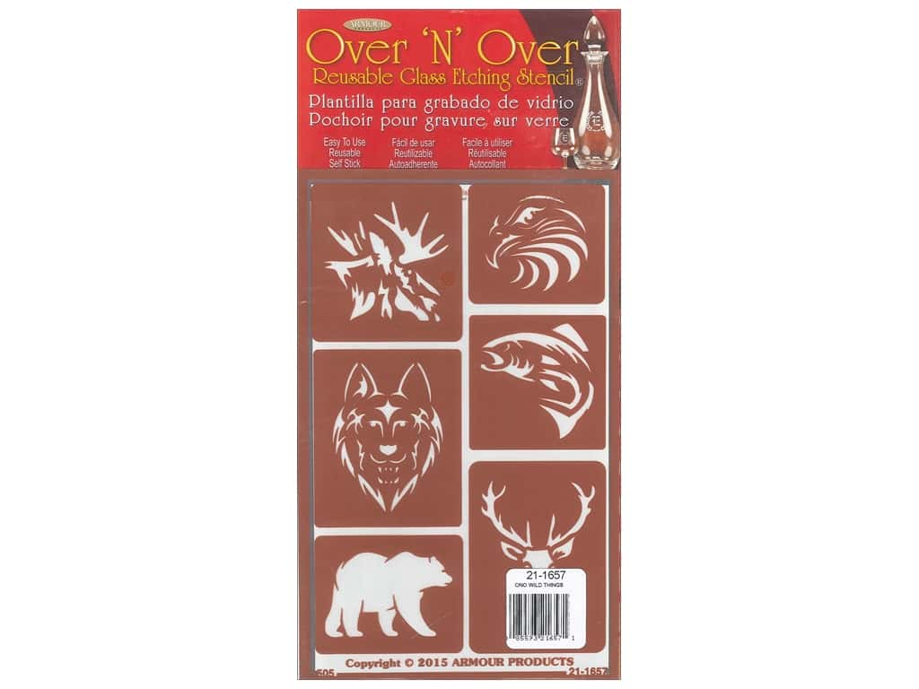 Armour Over 'N' Over Stencil Wild Things