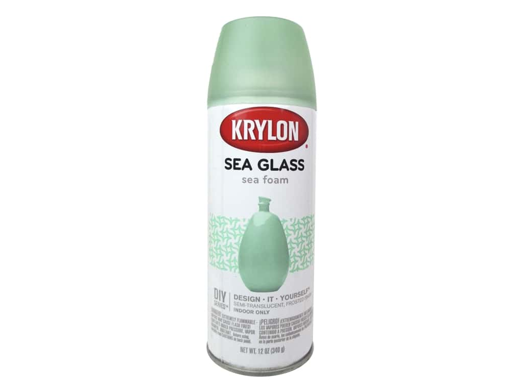 Krylon Sea Glass Finish 12 oz. Sea Foam