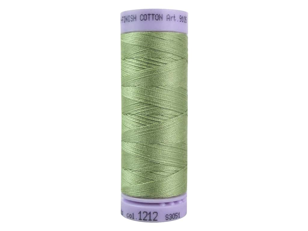 Mettler Silk Finish Cotton Thread 50 wt. 164 yd. #1212 Green Grape