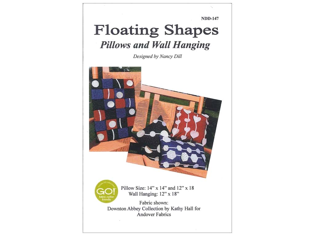 Nancy Dill Patterns - Floating Shapes Pillows & Wall Hanging