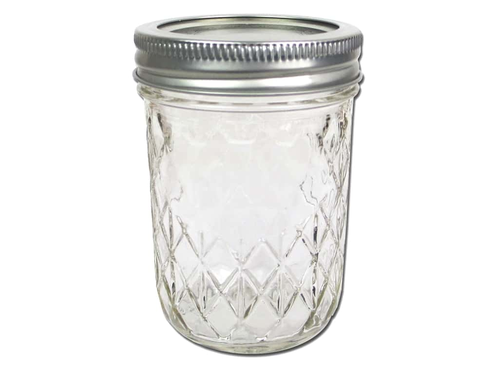 Ball Mason Jars 8 oz. Half Pint Regular Mouth Quilted Jelly (12 sets)