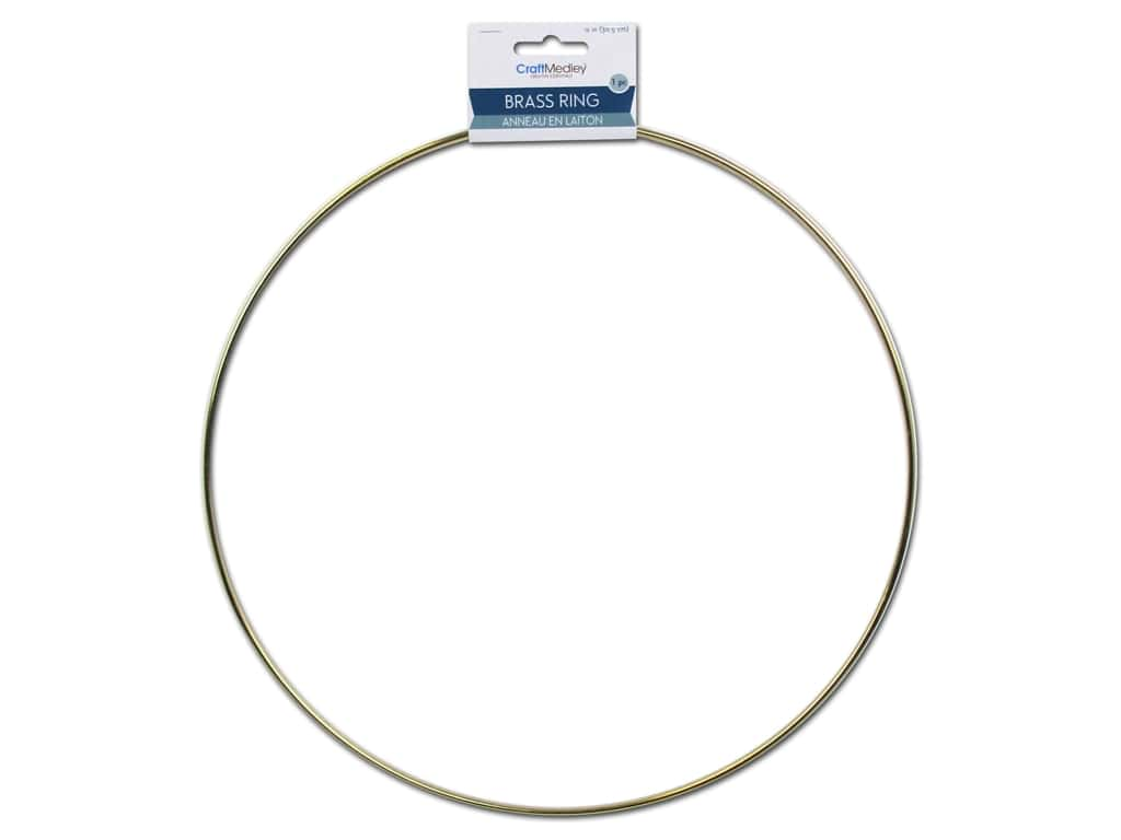 Craft Medley Brass Ring 12 in. 1 pc.