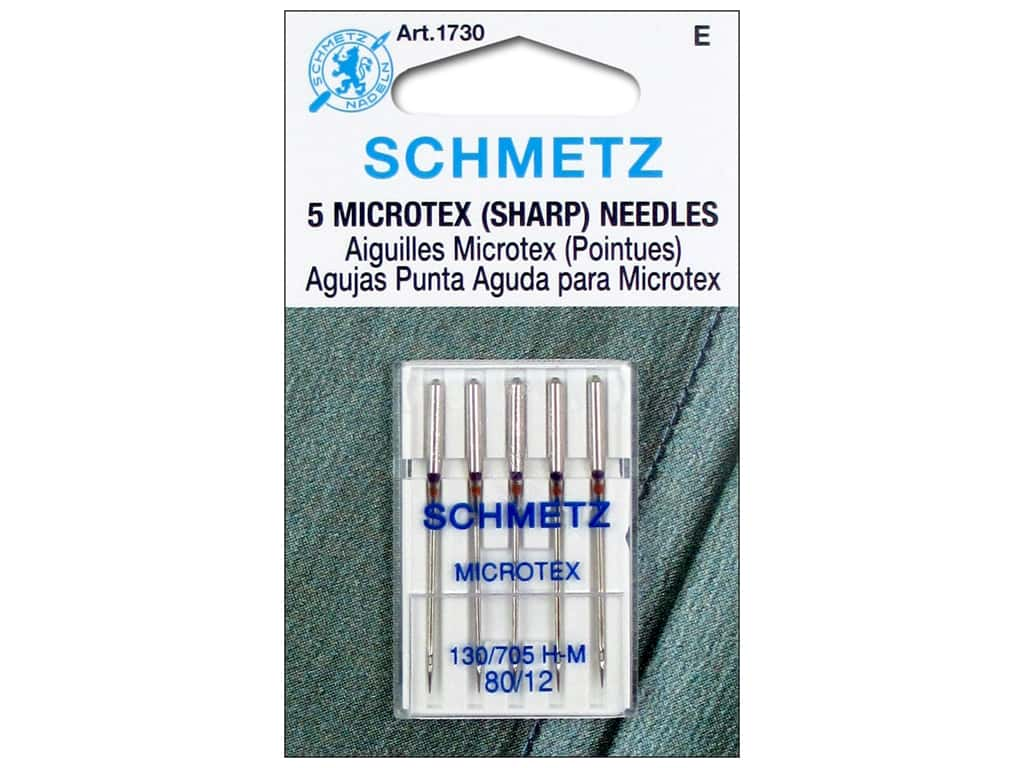 Schmetz Microtex/Sharps Needle Size 80/12 5 pc