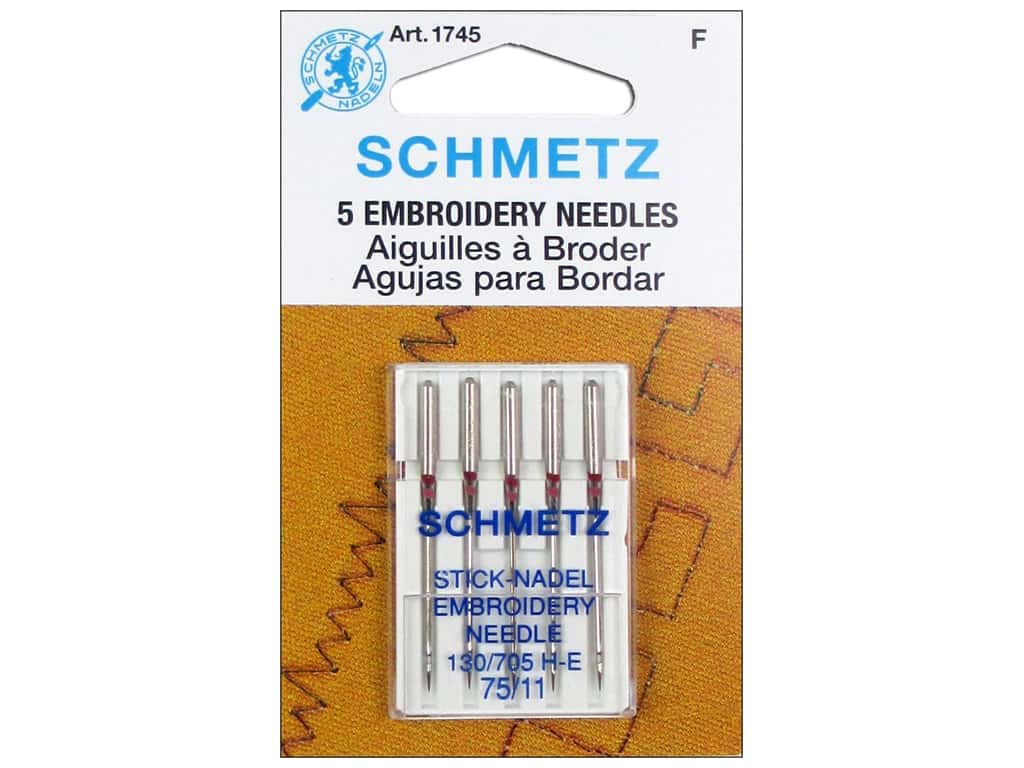 Schmetz Machine Embroidery Needle Size 75/11 5 pc