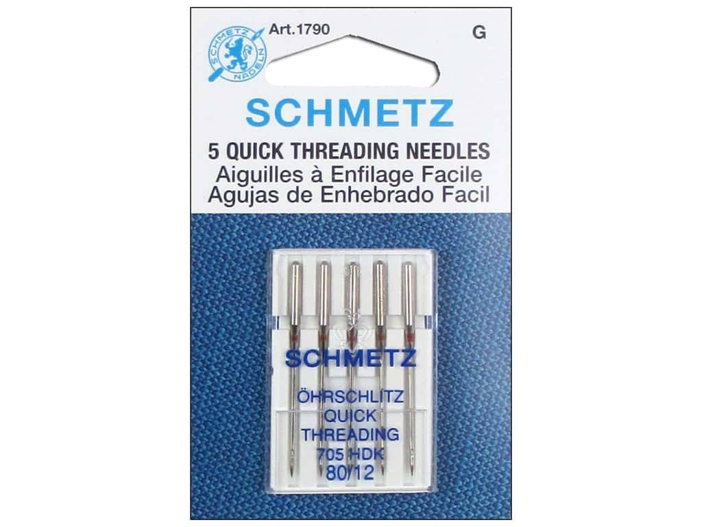 Schmetz Machine Quick Threading Needle Size 80/12 5pc