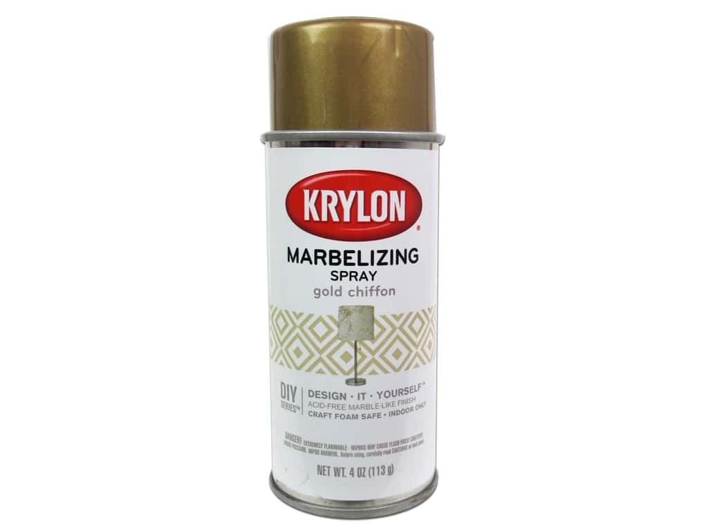 Krylon Marbelizing Spray 4 oz. Gold Chiffon
