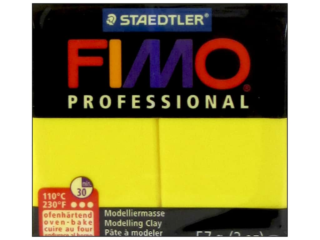 Fimo Professional Clay 2 oz. True Yellow