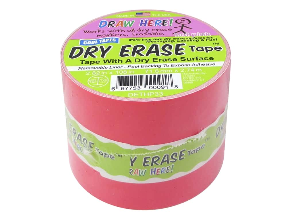 Cool Tapes Chalkboard Tape 2.82 x 108 in. Hot Pink
