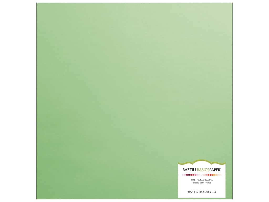 Bazzill 12 x 12 in. Foil Cardstock Green (15 sheets)