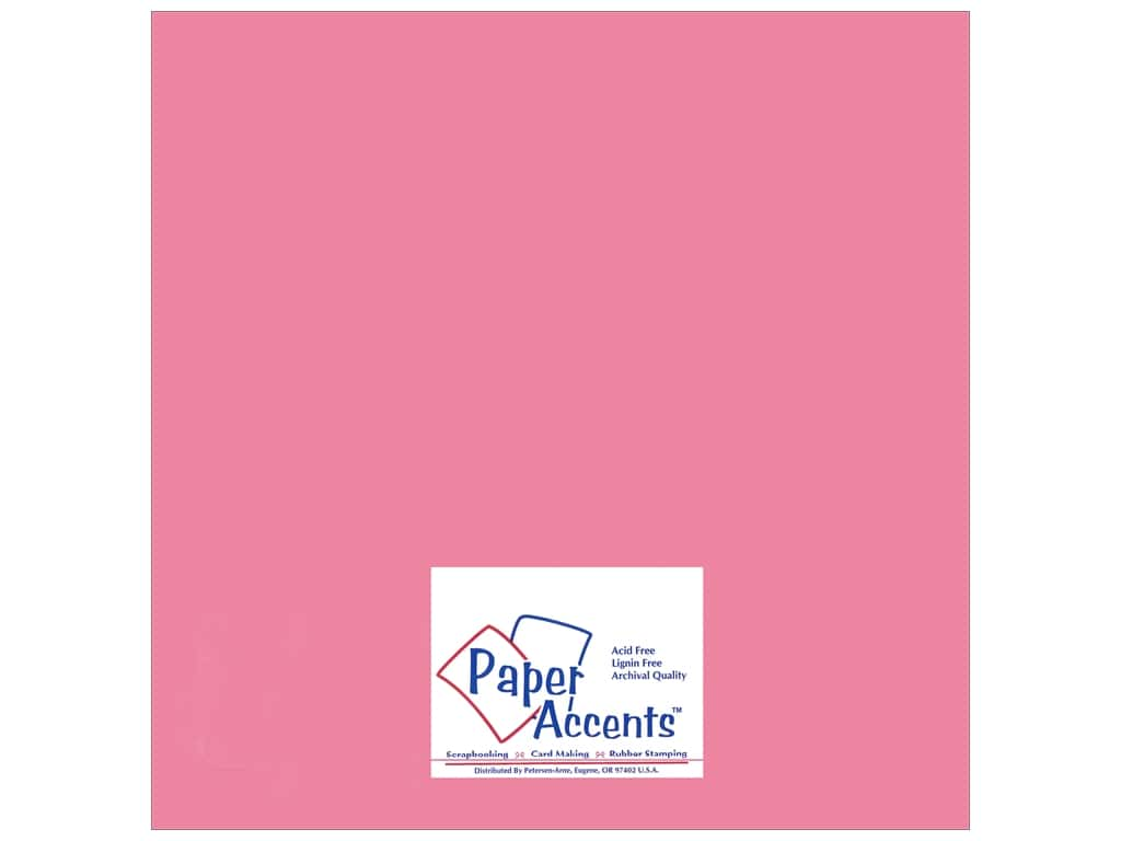 Paper Accents Adhesive Vinyl 12 x 12 in. Removable Matte Soft Pink (12 sheets)