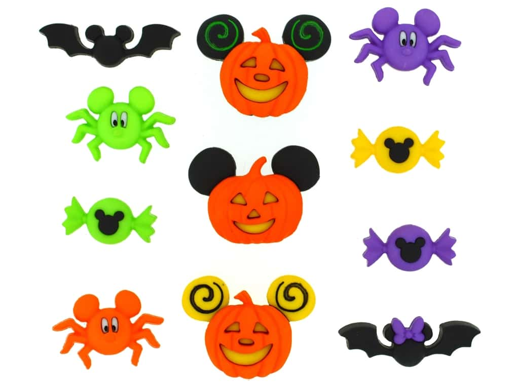 Jesse James Dress It Up Embellishments Disney Mickey & Minnie Halloween