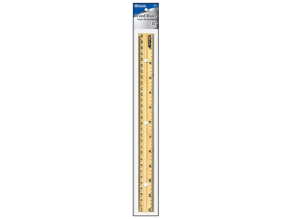 Bazic Basics Wooden Ruler 12 in.