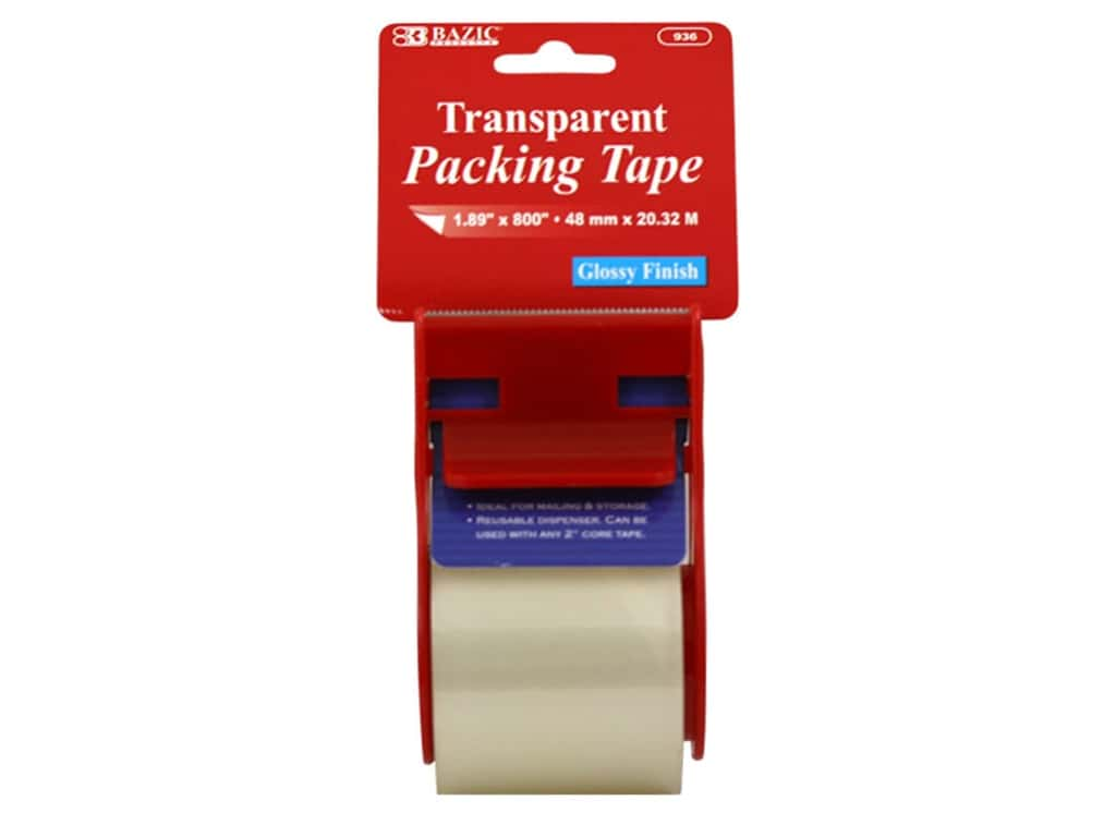 Bazic Basics Packing Tape with Dispenser 1.89 x 800 in. Clear