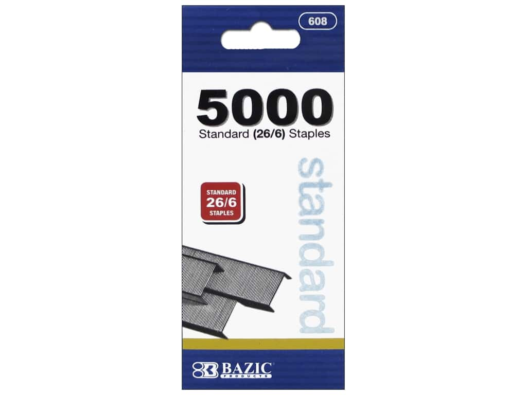 Bazic Basics Standard Staples 5000 pc.