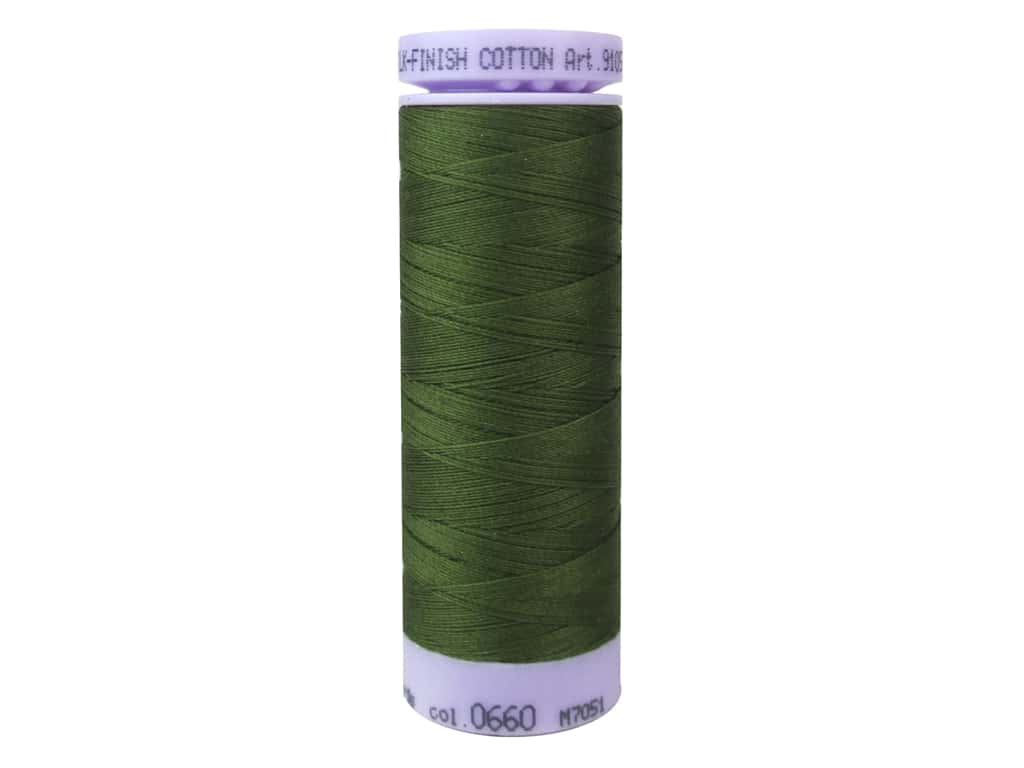 Mettler Silk Finish Cotton Thread 50 wt. 164 yd. #0660 Umber