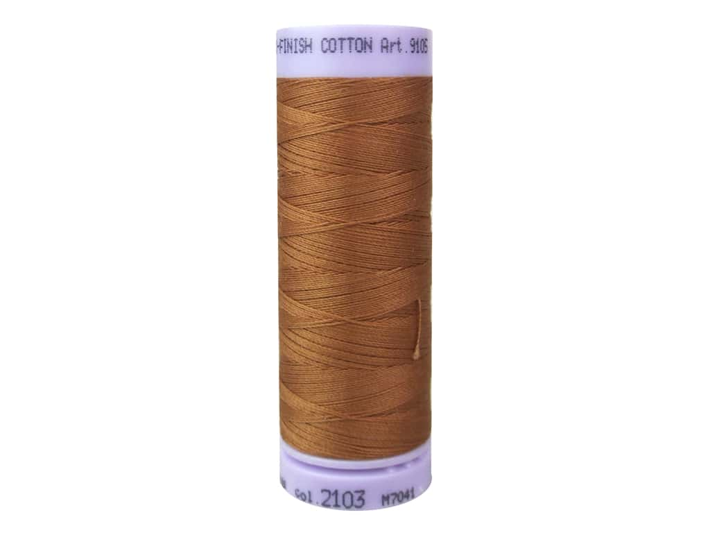 Mettler Silk Finish Cotton Thread 50 wt. 164 yd. #2103 Amber Brown