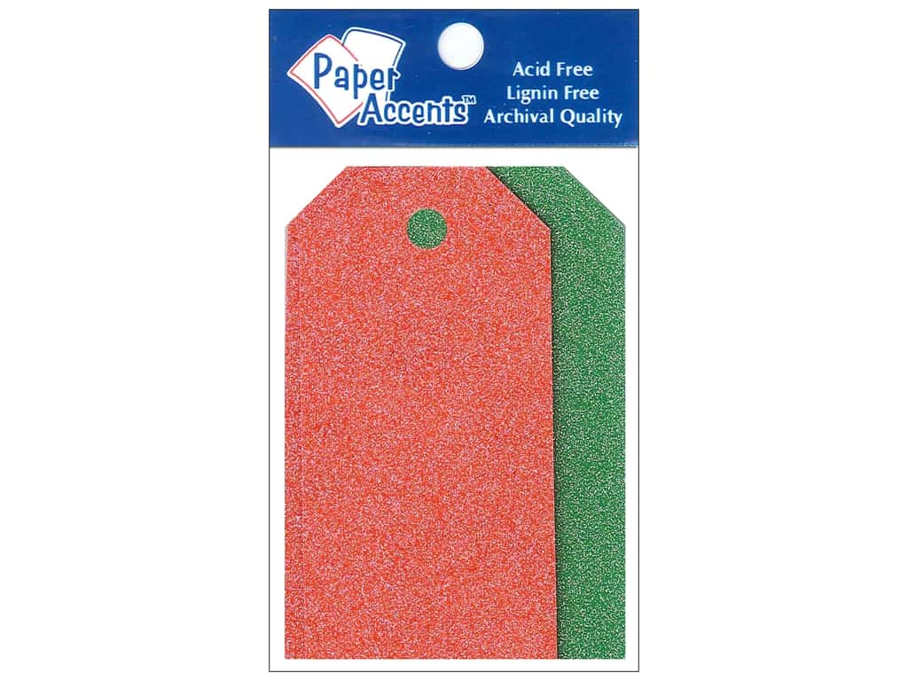 Craft Tags by Paper Accents 1 5/8 x 3 1/4 in. 10 pc. Glitz Christmas