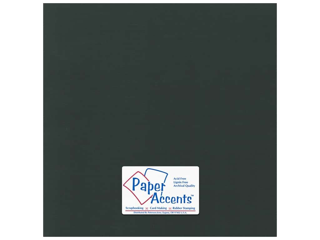 Paper Accents Cardstock 12 x 12 in. Canvas Black Magic 25 pc.