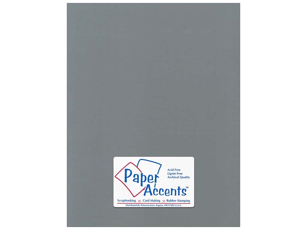 Paper Accents Cardstock 8 1/2 x 11 in. #5101016 Canvas Cloak Gray 25 pc.