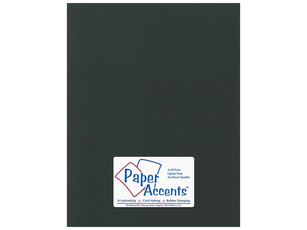 Paper Accents Cardstock 8 1/2 x 11 in. Canvas Black Magic 25 pc.
