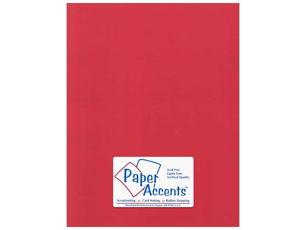 Paper Accents Cardstock 8 1/2 x 11 in. #52211 Canvas Red Cherry 25 pc.