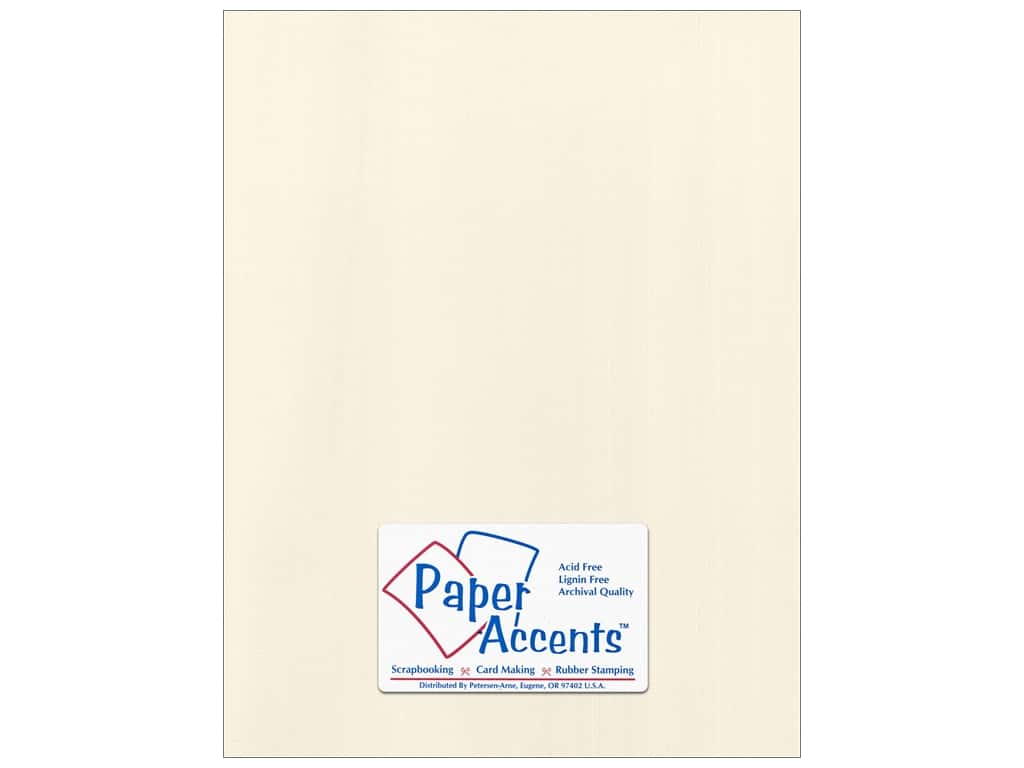 Paper Accents Cardstock 8 1/2 x 11 in. #58809 Canvas Ecru 25 pc.