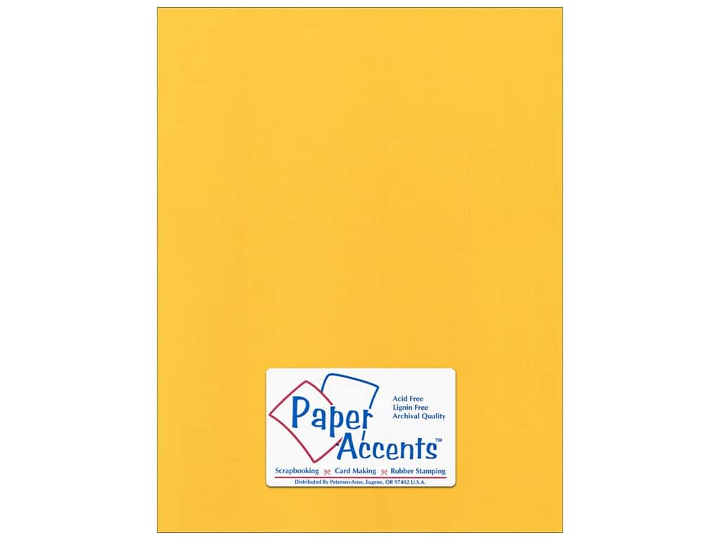 Paper Accents Cardstock 8 1/2 x 11 in. Canvas Banana Pepper 25 pc.