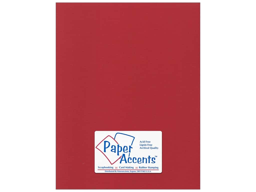 Paper Accents Cardstock 8 1/2 x 11 in. #52213 Canvas Firecracker 25 pc.