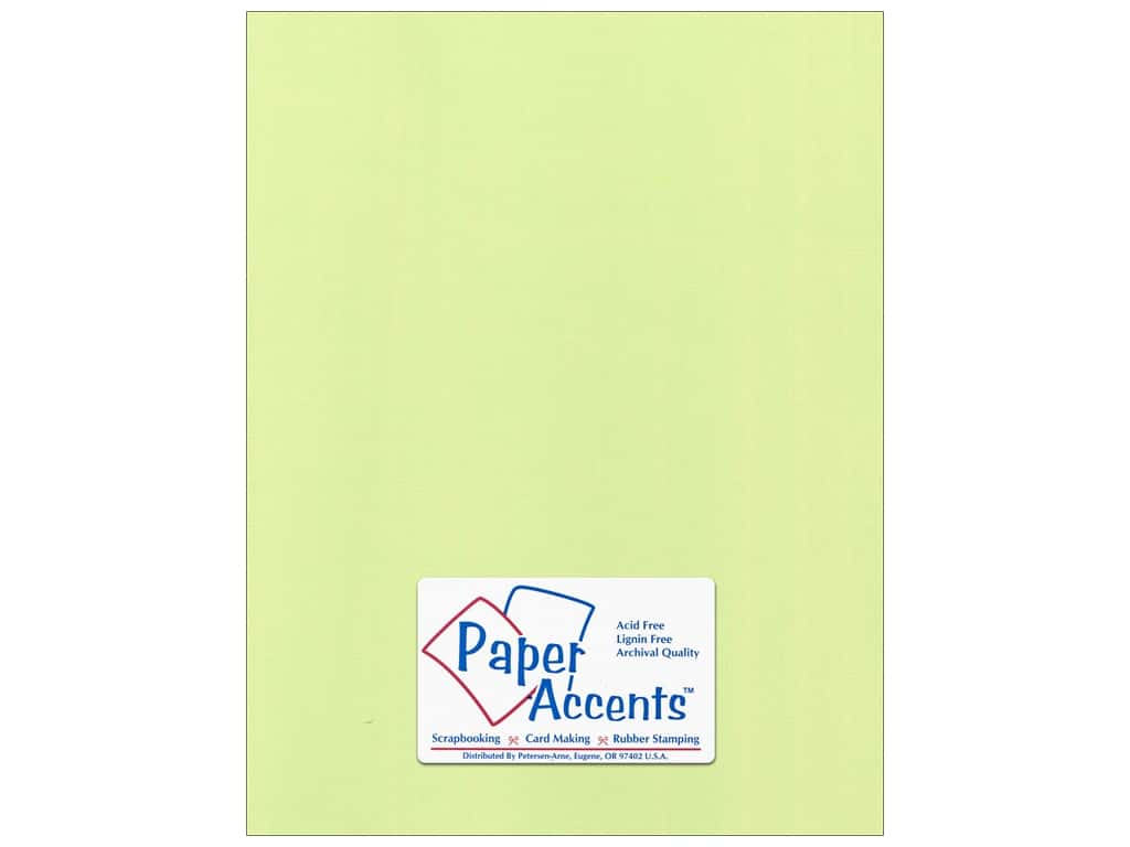 Paper Accents Cardstock 8 1/2 x 11 in. #55517 Canvas Lime Pop 25 pc.