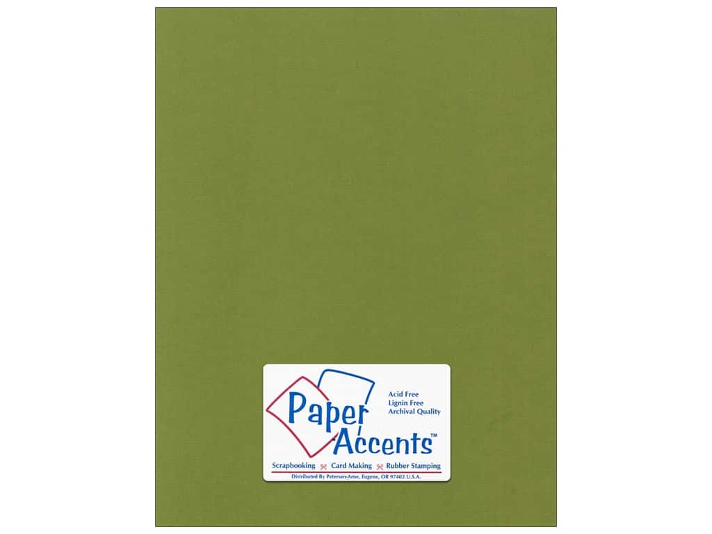 Paper Accents Cardstock 8 1/2 x 11 in. #55519 Canvas Spanish Moss 25 pc.