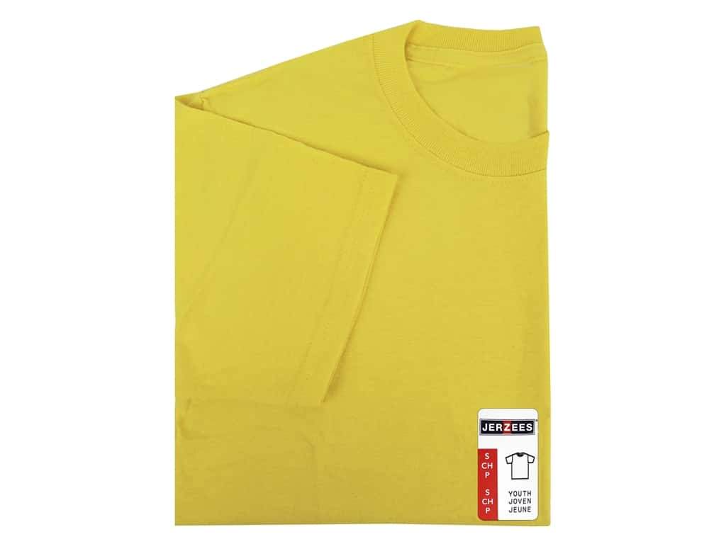 Jerzees T Shirt Youth Small Island Yellow