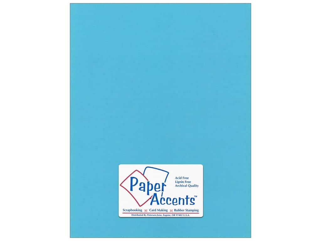 Paper Accents Cardstock 8 1/2 x 11 in. #57724 Canvas Poolside 25 pc.