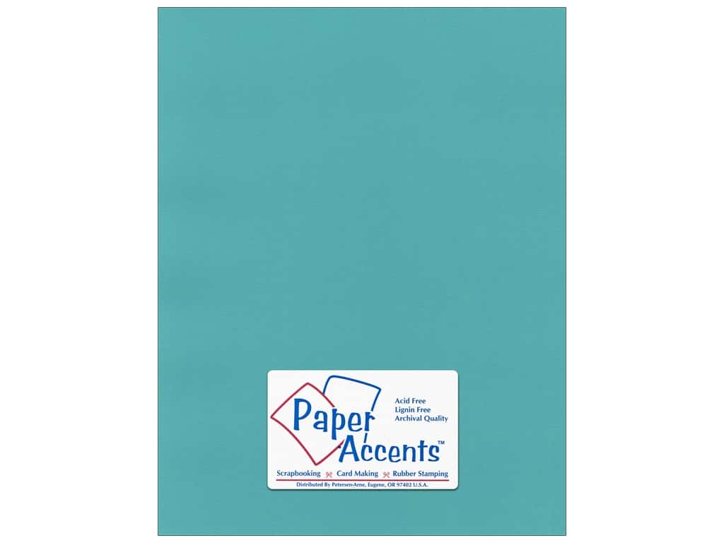 Paper Accents Cardstock 8 1/2 x 11 in. #55526 Canvas Caribbean Sea 25 pc.