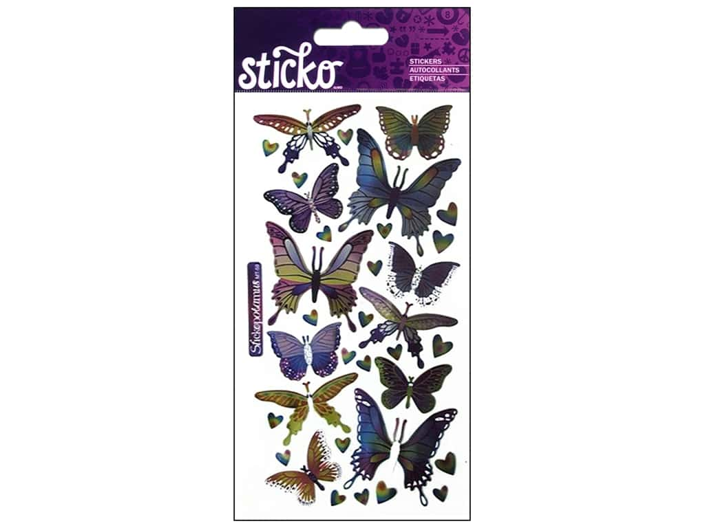EK Sticko Stickers Metallic Foil Butterflies
