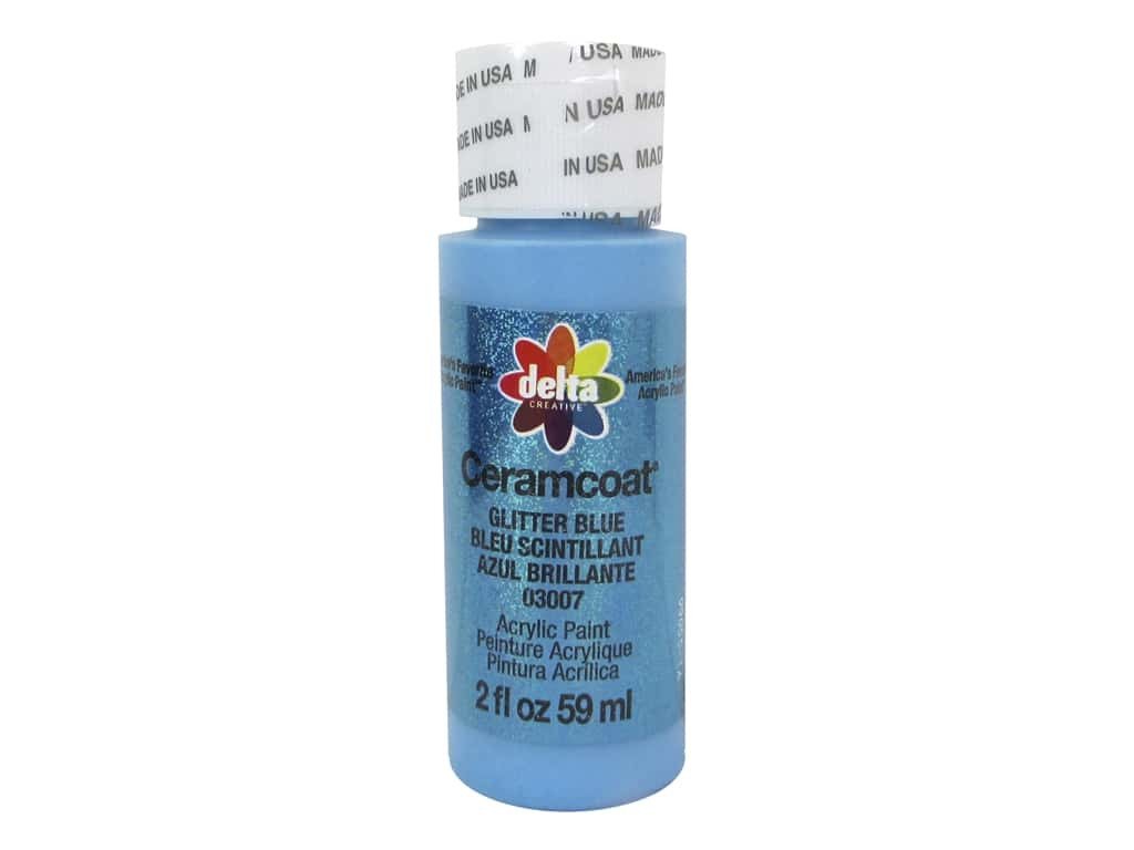 Delta Ceramcoat Acrylic Paint 2 oz. #3007 Glitter Blue