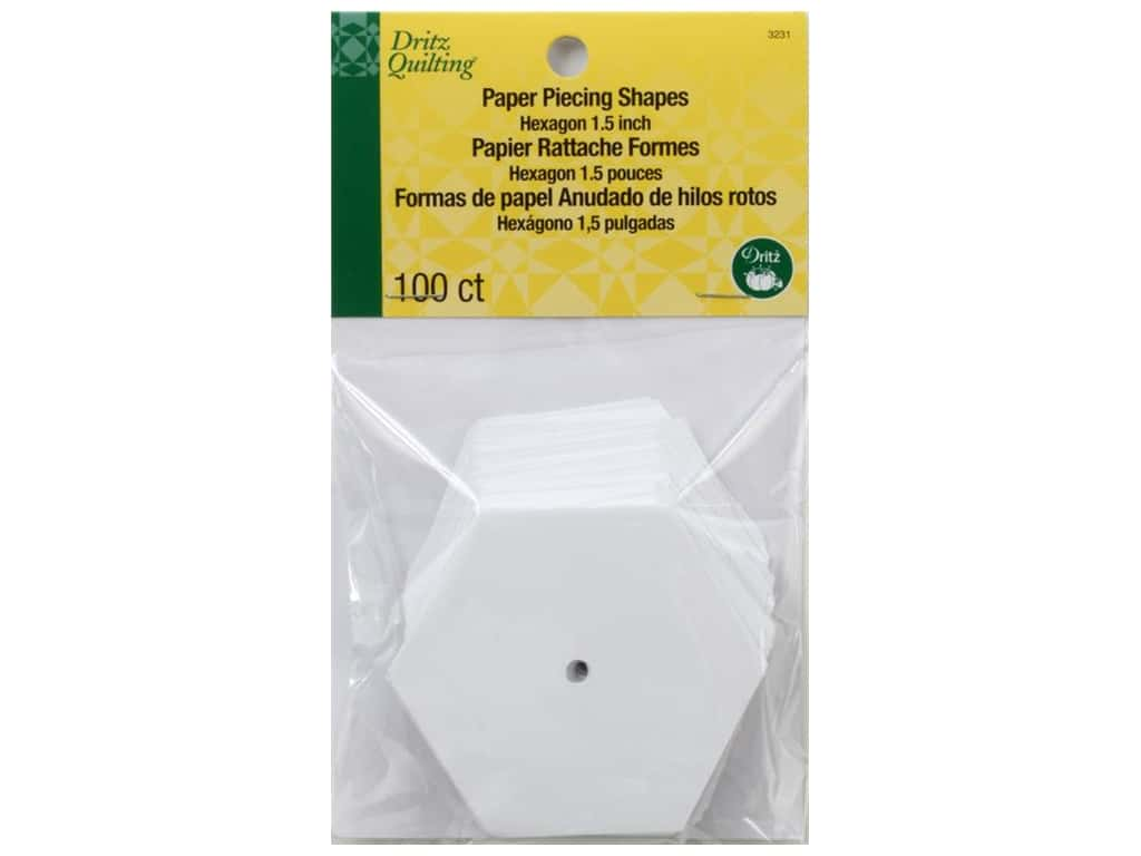 Dritz Paper Piecing Hexagon 1 1/2 in. 100pc